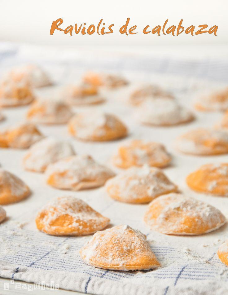 Raviolis de calabaza rellenos de ricotta y chorizo (preparación)
