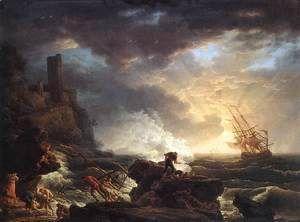 Shipwreck 1759  Claude-joseph Vernet