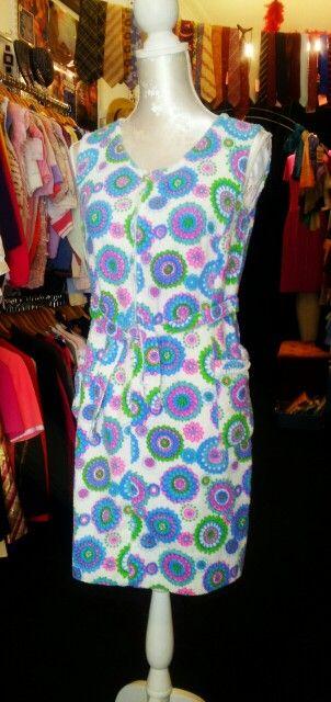 Original 1960's Philip Kunick Towelling Pyschedelic Dress