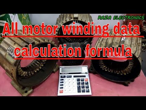 How to make motor winding formula calculation complete details in