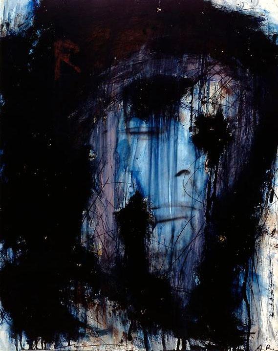 ARNULF RAINER, BLUE SELF PORTRAIT