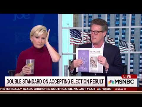Scarborough Laughs Uncontrollably, Calls Out Media Hypocrisy Over Clinton Joining Recount - YouTube