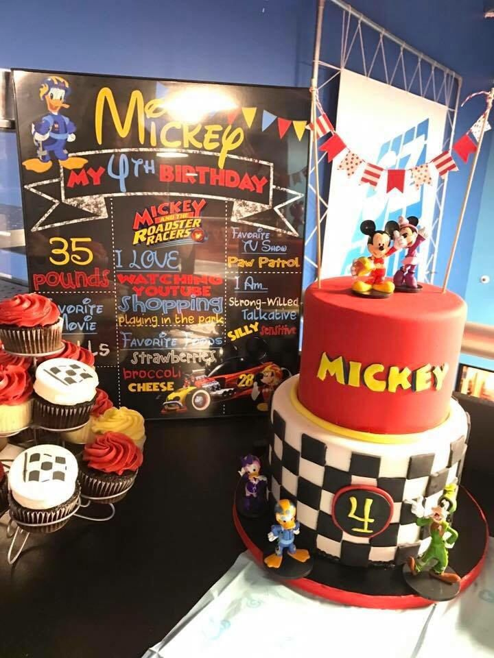 Digital or Printed | Mickey Roadster Racers Chalkboard Sign | Birthday Party | Customizable by DuitMommyDesigns on Etsy https://www.etsy.com/listing/510512189/digital-or-printed-mickey-roadster