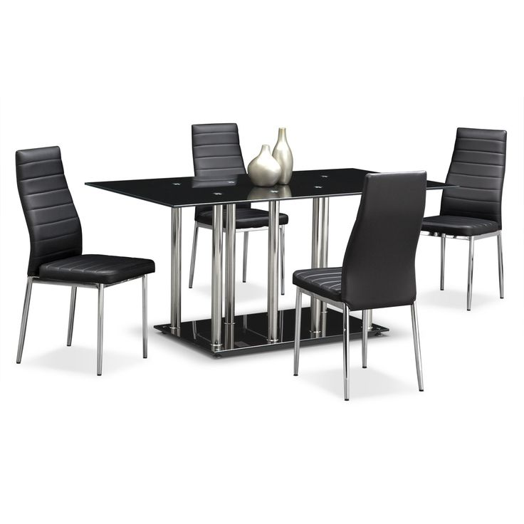 Artfully Industrialthe Modern Stratus Dining Collection Is Captivating Value City Kitchen Sets Design Ideas