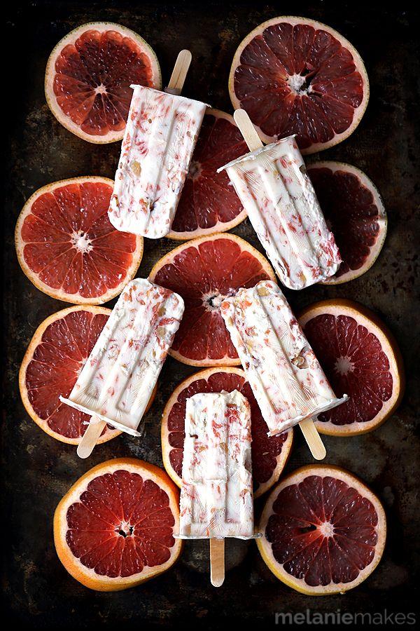 Honey Roasted Grapefruit Parfait Popsicles - dairy-free w/ @lovemysilk - easy recipe via @melaniebauer