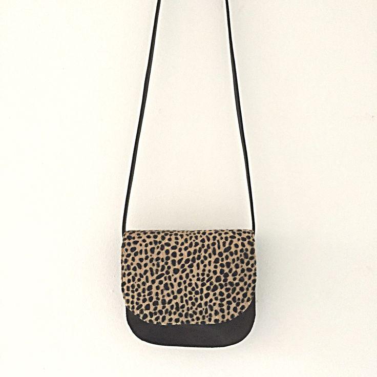 Leopard handmade leather saddlebags www.sannerose.com