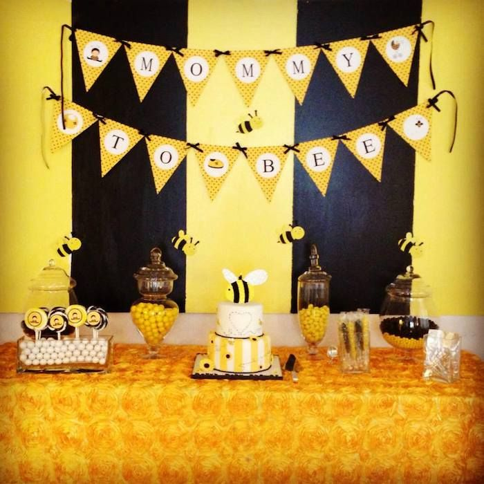 Bee Themed Baby Shower Table Decoration
