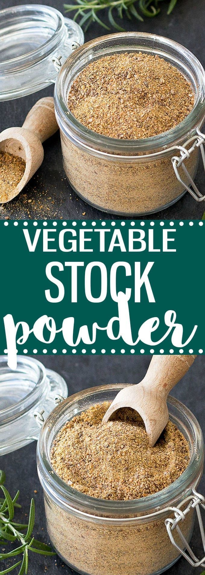 Homemade vegetable stock powder- easy to make and healthier than the store bough one. 100% natural, free of preservative and less sodium. #easyrecipe #homemade #vegetarian #vegan