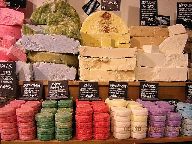 Lush cosmetics. The BEST place to get any organic vegetarian handmade cosmetics. (Shampoos, bathbombs, scrubs, lotions, ect.)