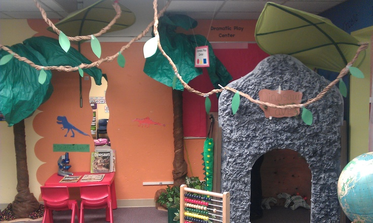 Dinosaur cave dramatic play
