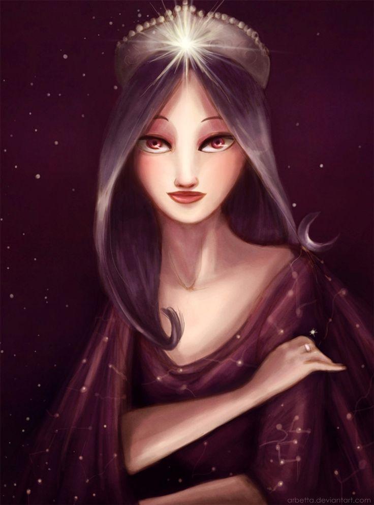 """Moon stars Fairy / Fata della Luna e delle Stelle - Art by Arbetta on deviantART, """"The Empress of the Stars"""""""