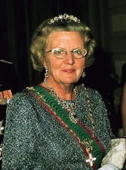 Queen Juliana of the Netherlands. The daughter of Queen Wilhelmina and Prince Hendrik of the Neterlands, she ruled the Netherlands as Queen from 1948 to April 30, 1980, her 71st birthday. (1909-2004)