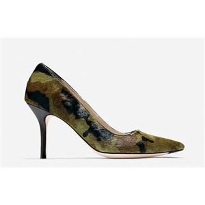 christian louboutin pointed-toe pumps Green pony hair camouflage ...
