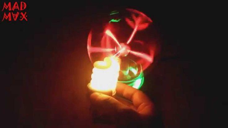 Плазма Шар и Лампочка - Эксперимент / Plasma Ball and Day Lamp