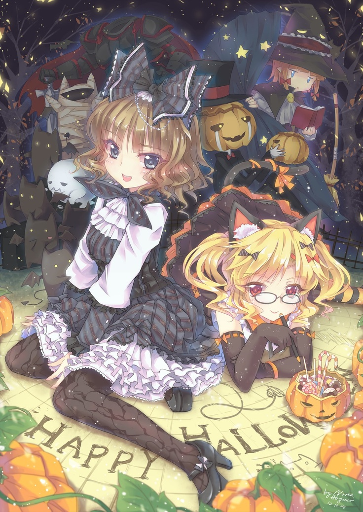 luv this but my question is why does the girl have candy canes in her candy stashi hope they arent from last x mas - I Luv Halloween Manga