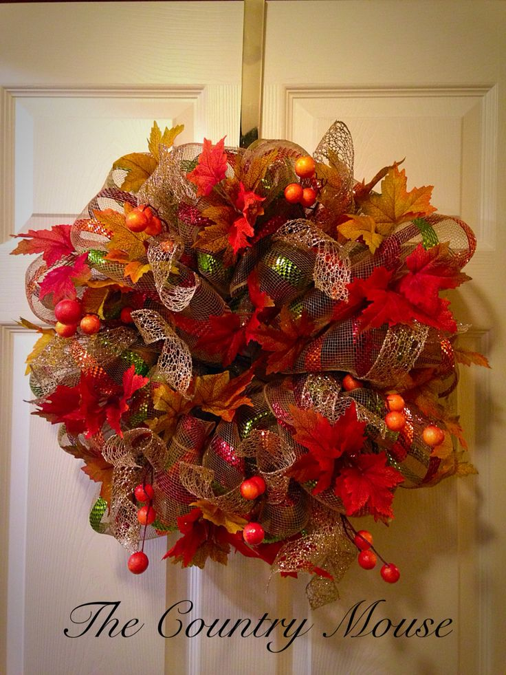 Autumn mesh wreath by Gail Eddy