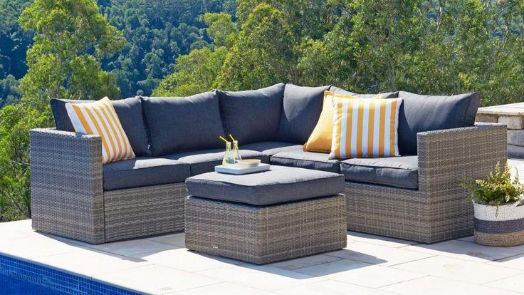 Aria 3 Piece Outdoor Modular Lounge Setting - Outdoor Lounges - Outdoor Living - Furniture, Outdoor & BBQs | Harvey Norman Australia