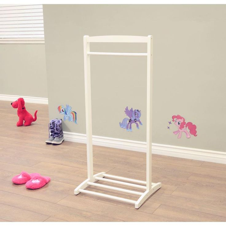 Homecraft Furniture 1-Hook Kid's Contemporary Wooden Cloths Hanger in White-F18WH - The Home Depot