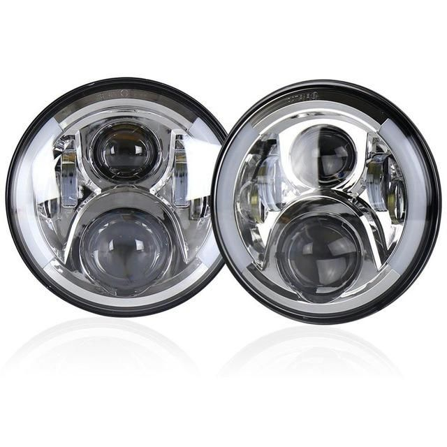 "7"" Round Jeep LED DRL/Amber Headlight"