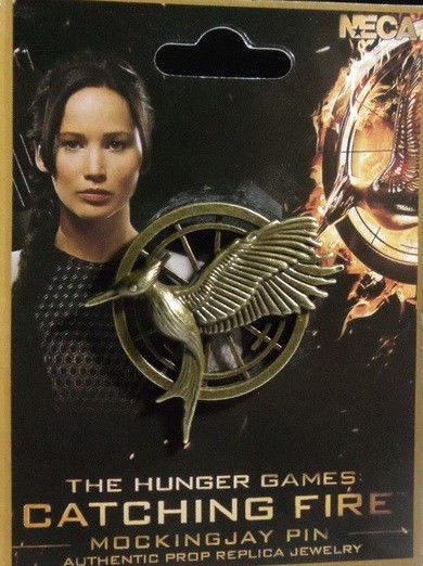 Halloween Costume-Hunger Games Mockingjay Pin-Katniss-Authentic Prop Replica NWT #NECA #Pin