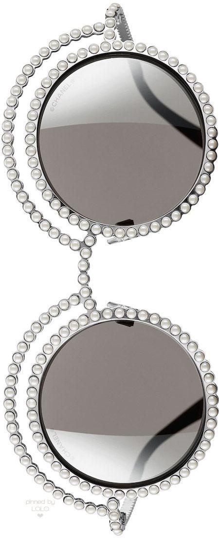 Classic pearls!! Chanel Eyewear #ChanelEyewear
