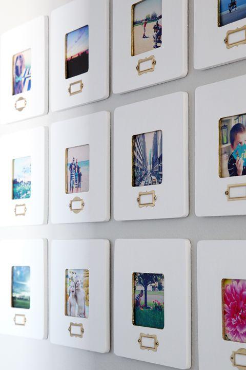 Instagram gallery wall  IHeart Organizing  A Little Glitz  amp  Glam in the Hallway