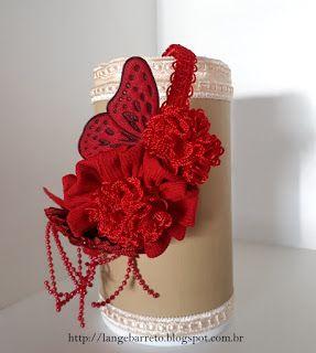 Lange Barreto - Scrap: Tiara com flores