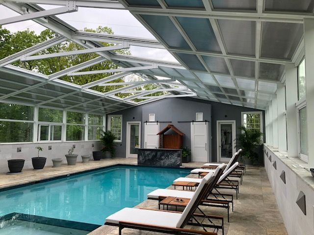 Residential Retractable Pool Enclosure South Brunswick Nj America S Leading Custom Manufacturer Of Retractable Enclosure And Roof Systems Roofing Systems Pool Enclosures Outdoor Restaurant