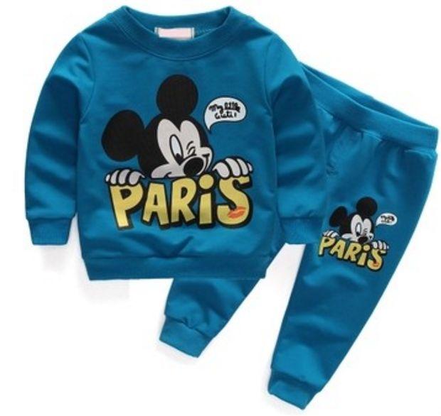 Mikey mouse Paris blue set - Babiesthrift