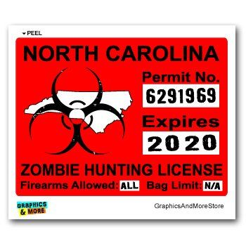 17 best images about zombie hunting permits on pinterest for Nc wildlife fishing license