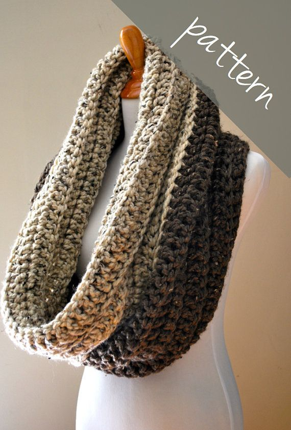 Crochet Pattern Oversized Cowl Chunky Infinity Scarf Easy Infinity Scarfs Patterns And