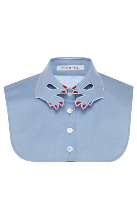 Blue Hands Collar Dickie With Red Nails by Vivetta for Preorder on Moda Operandi