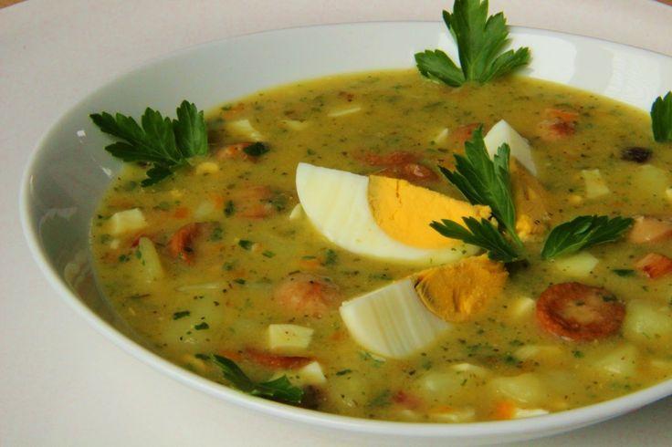 V kuchyni vždy otevřeno ...: Bramborová polévka s vejci a párkem