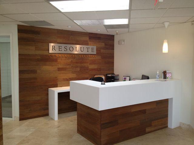 Custom Reception Desk, Resolute Commercial Services  Scottsdale, Az