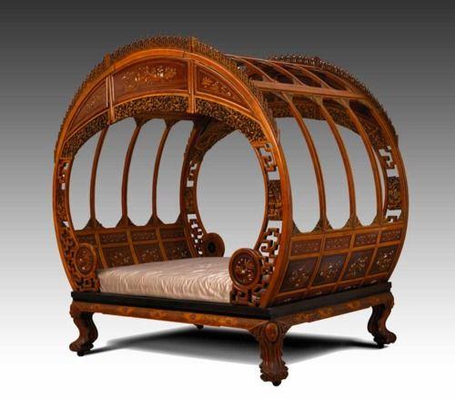 Moon Bed.  ca. 1870-1880  Artist not identified  Ningpo, China  Asian hardwoods, ivory