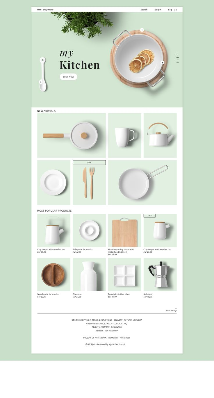 Web design for e-shop Landing Page Daily UI