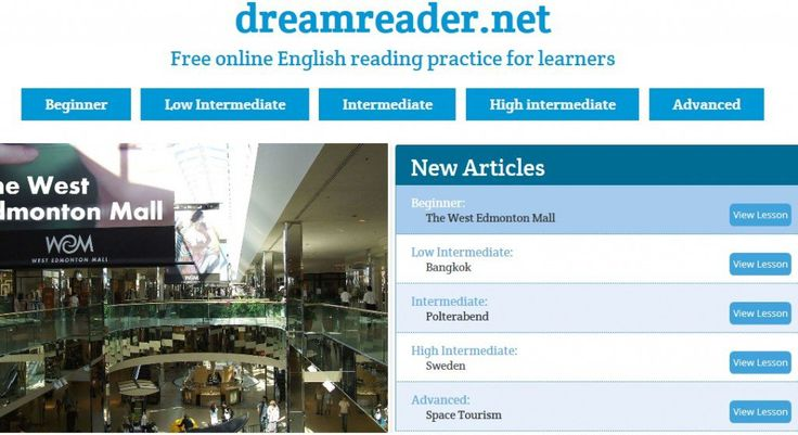 Dreamreader is a new reading site for English Language Learners created by Neil Millington, an English teacher in Japan.