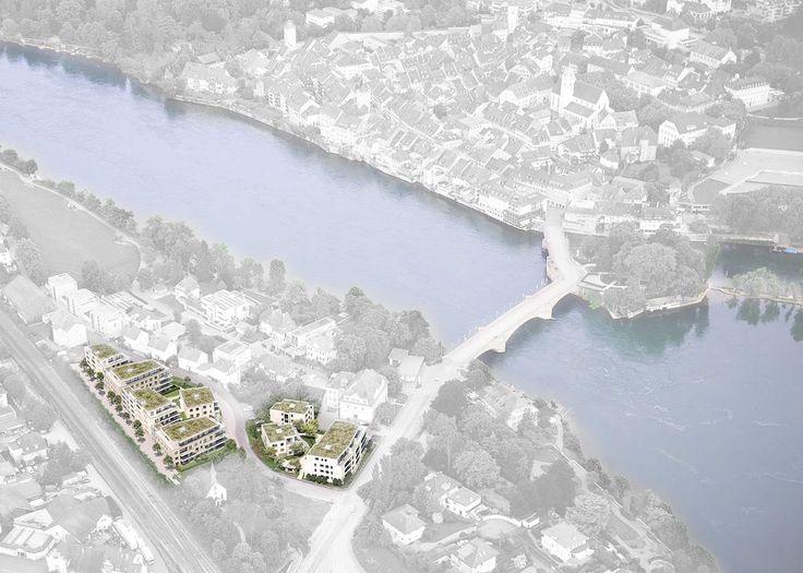 Stunning Fotomontage Vogelperspektive Wohnungsbau Visualisierung von LINKD Freiburg