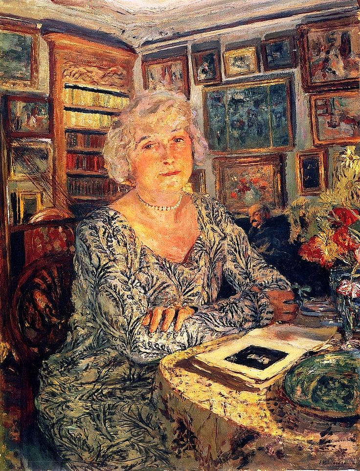 Lucy Hessel Reading - Edouard Vuillard, 1924  Art Experience NYC  www.artexperiencenyc.com