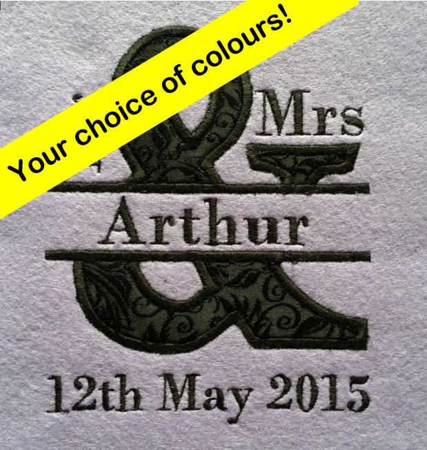 Mr and Mrs Personalised Decorative Artwork Wedding Present by MadeByMAP on Etsy