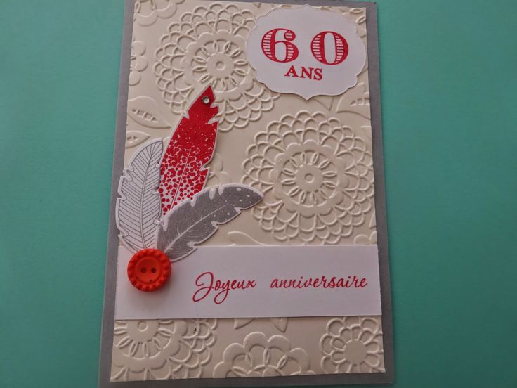 carte anniversaire 60 ans stampin'up