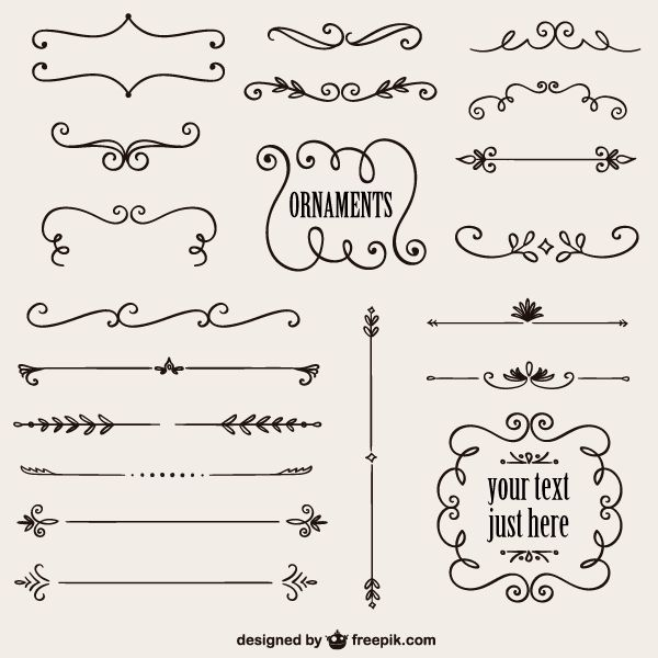 Free vintage calligraphy border design vector graphics.. More Free Vector Graphics, www.123freevector...