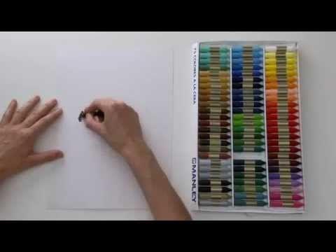 Material Escolar - Pintar camiseta con ceras Manley - YouTube