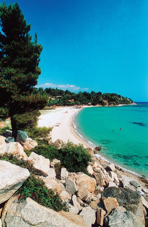 Beach in Chalkidiki, Greece