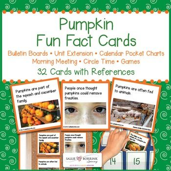 Pumpkin Fact Cards are a quick, flexible, colorful and fun way to expand your…