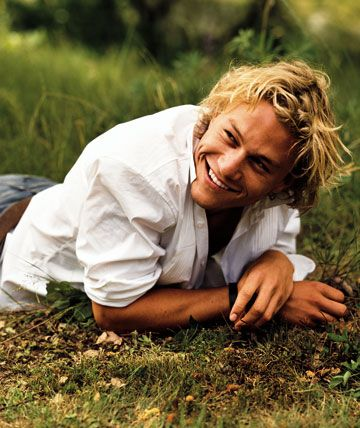 Heath Ledger on location for 'A Knight's Tale'. He was only 22 when the film was released.
