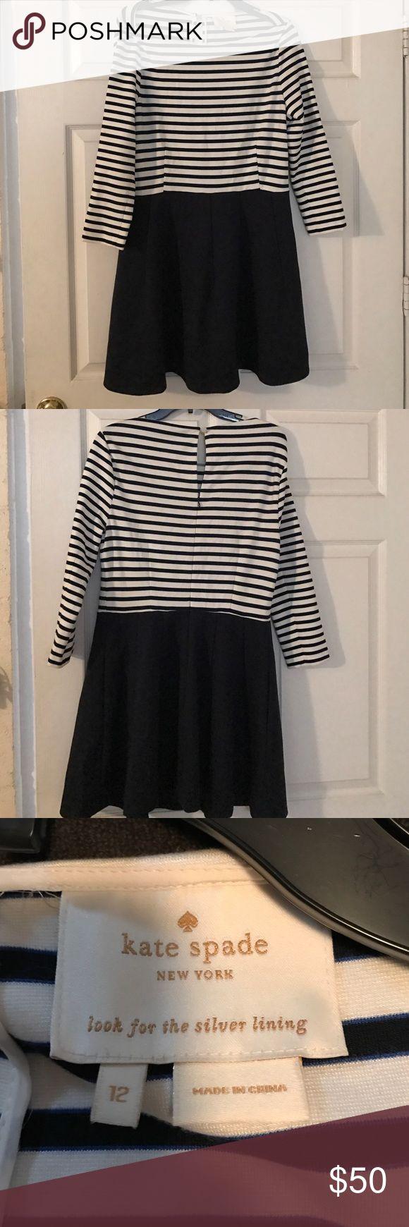 Kate Spade nautical mini dress Adorable Kate Spade blue and white mini sailor dress. kate spade Dresses Mini