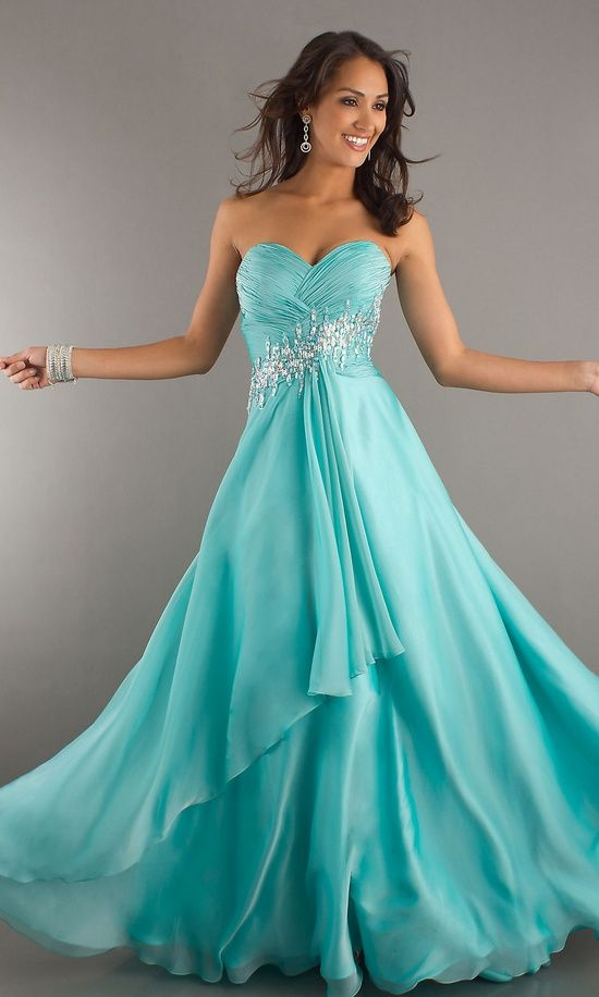 Tiffany Blue Evening Gown – fashion dresses