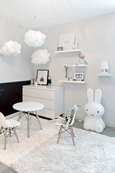 All white kids room. @littledreambird