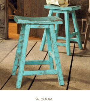 Turquoise & brown- I should do this with the stools that we have